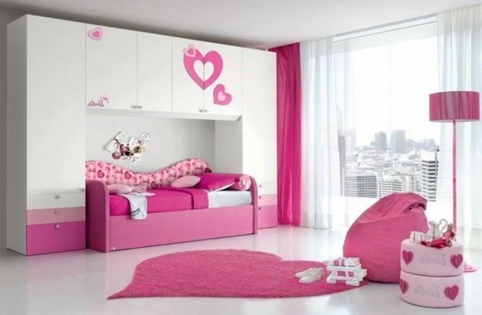 rideau-chambre-enfant-la-poupée-Barbie-rose-et-blanc-resized