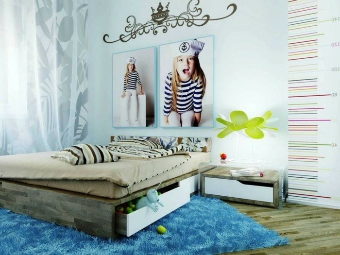 Grands rideaux de chambre des adolescentes