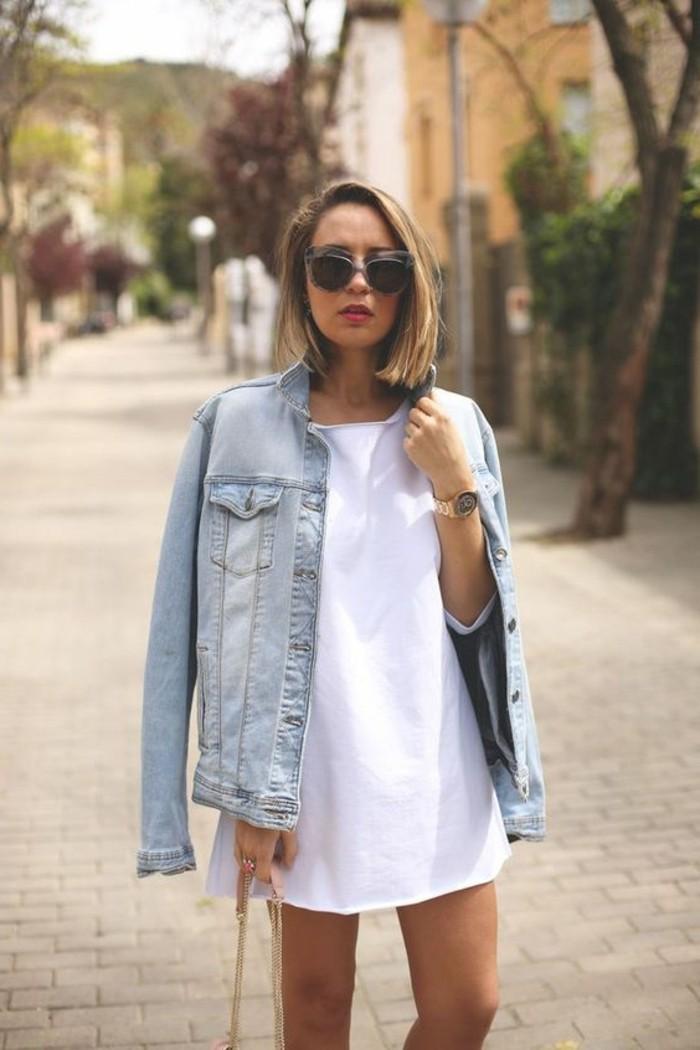 robe-blanche-femme-lunettes-de-soleil-femme-veste-denim-femme-design-moderne