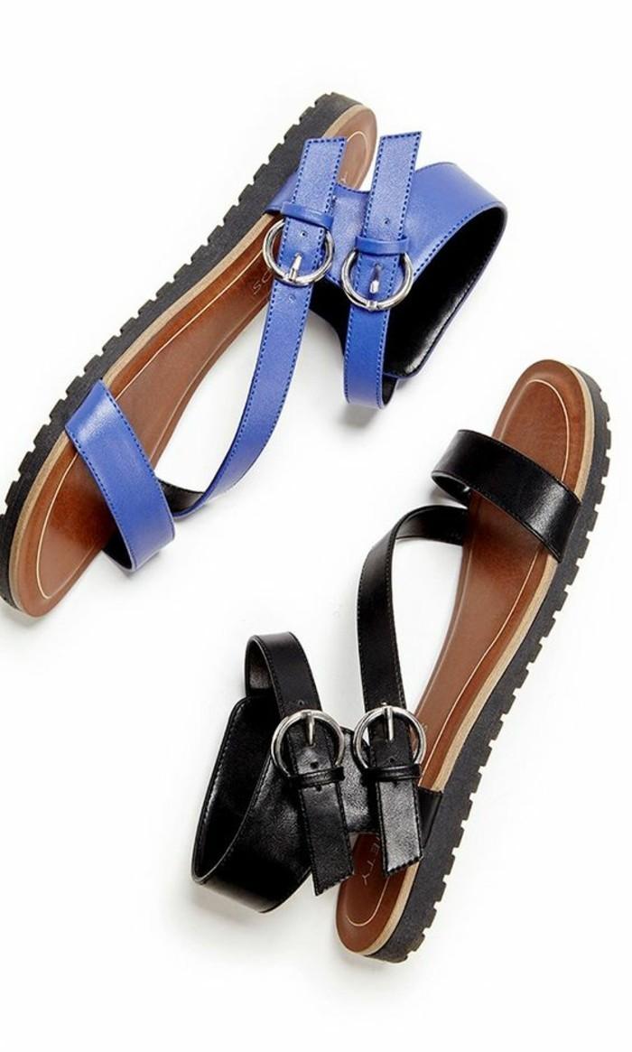 sadales-noires-et-bleu-les-dernieres-tendaces-chez-les-sandales-femme-pas-cher