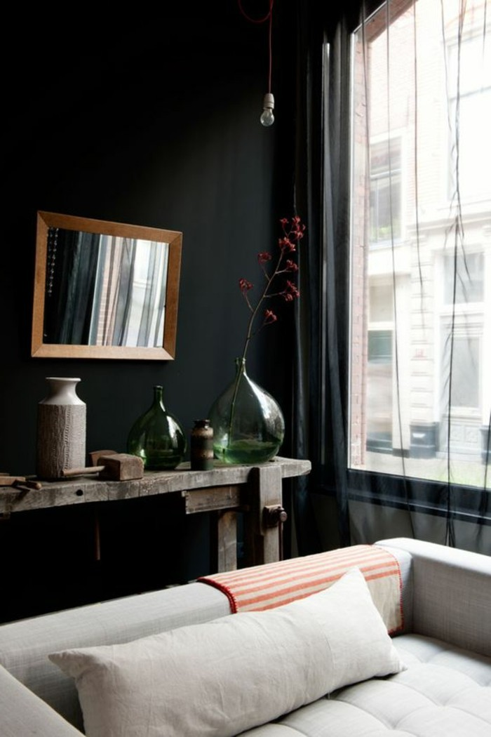 amazing quelle peinture pour plafond 12 salon avec murs noires id e peinture salon canape. Black Bedroom Furniture Sets. Home Design Ideas