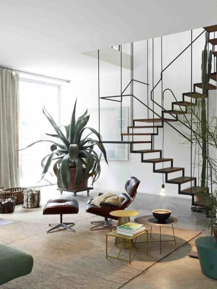salon-avec-plafond-haut-tapis-rotin-dans-le-salon-meubles-de-salon-modernes