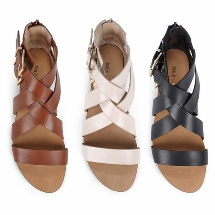 sandales-chaussures-d-ete-femme-spartiates-femme-beige-et-noire-chaussures-d-ete-femme