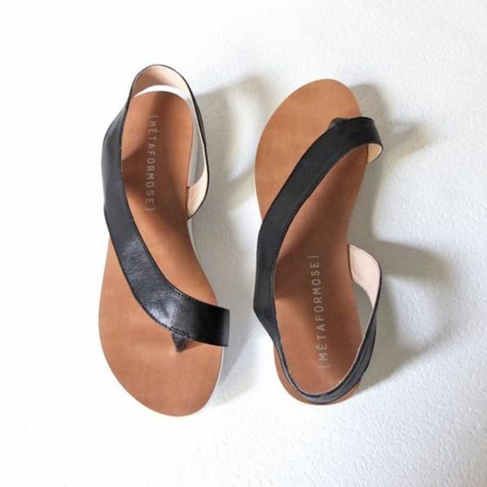 sandales-noires-femme-design-2016-sandales-pas-cher-chaussures-d-ete-femme