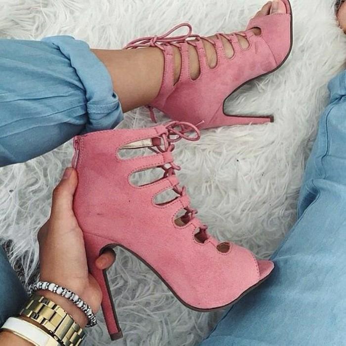 sandales-rose-cendré-femme-sandales-femme-pas-cher-design-moderne-mode-2016
