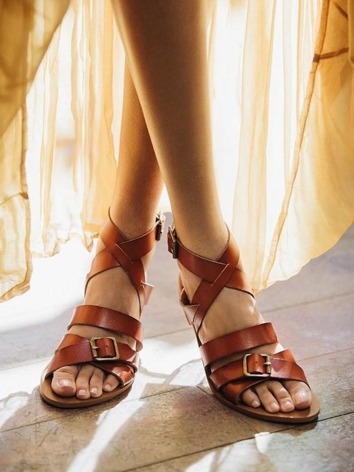 sandales-sandales-plates-femme-cuir-marron-les-dernieres-tendances-chez-les-chaussures-femme