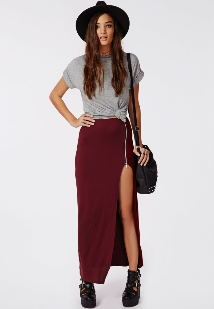 style-bohème-chic-jupe-simili-cuir-idée-été-moderne
