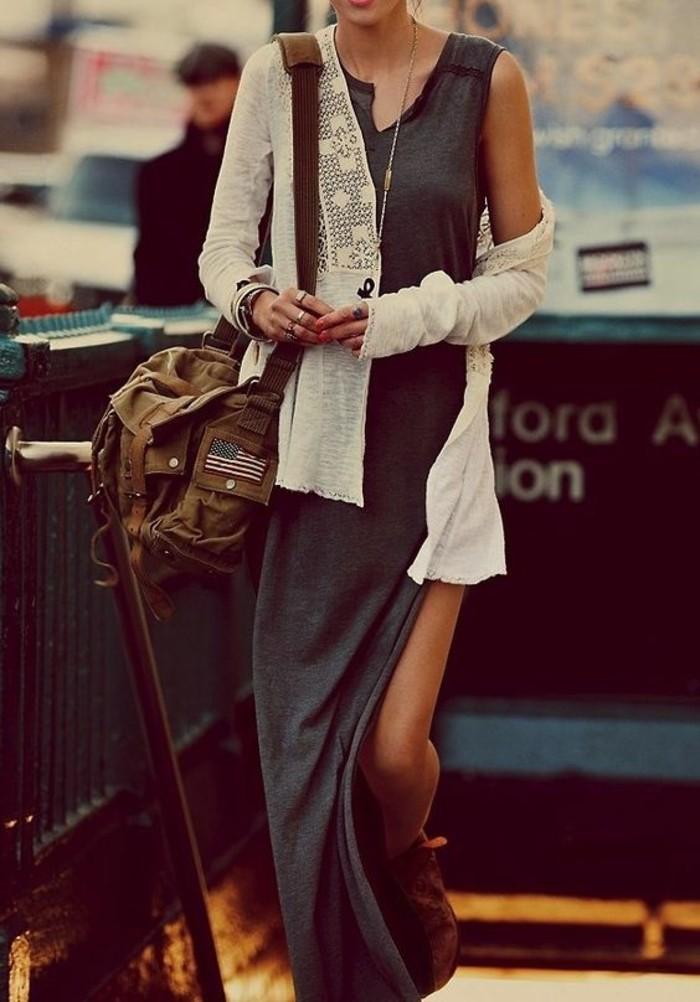 style-bohème-chic-jupe-simili-cuir-idée-belle
