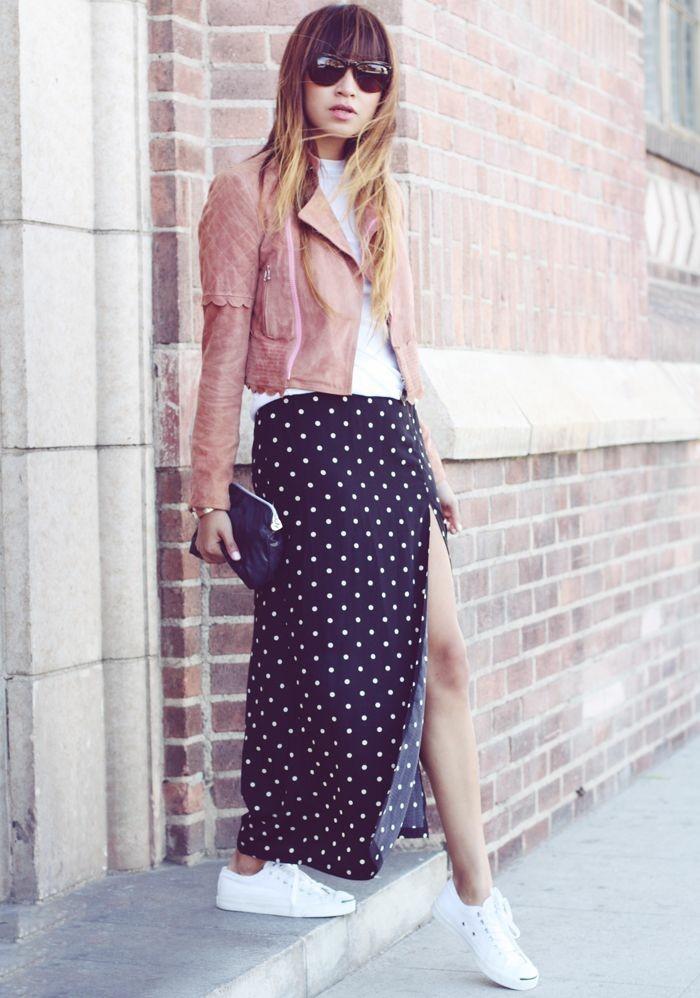 style-bohème-chic-jupe-simili-cuir-idée-rose-veste