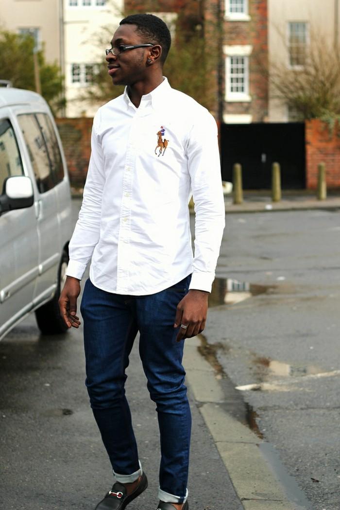 style-chemise-manche-courte-homme-chemise-carreaux-femme-ralph