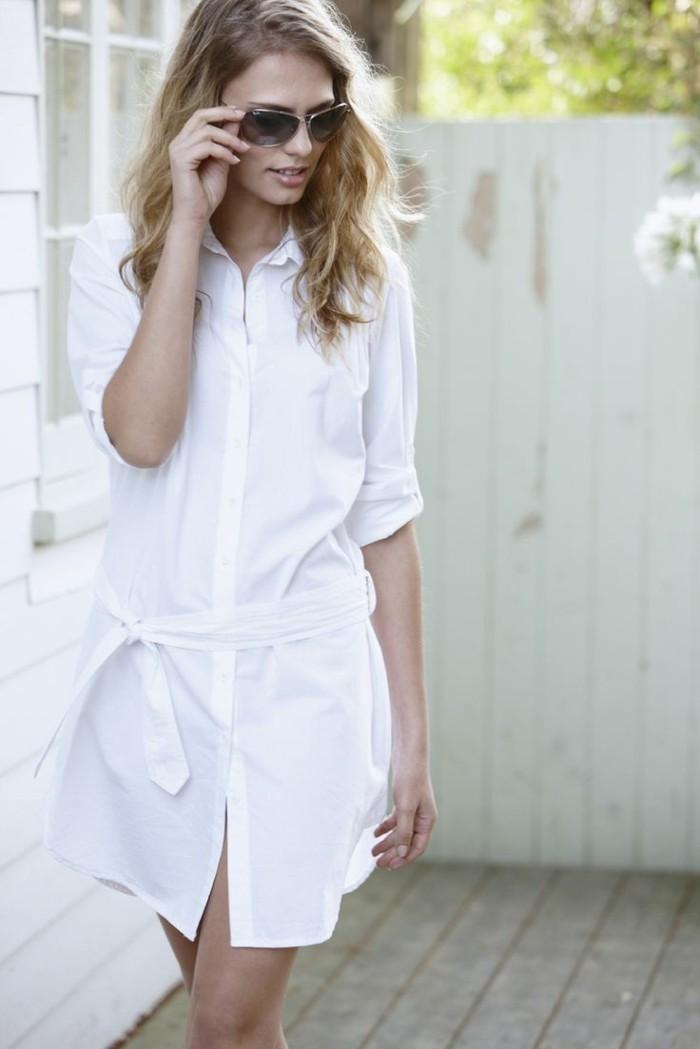 superbe-chemise-kaki-femme-chemise-noire-homme-chemise-manche-courte-total-blanc