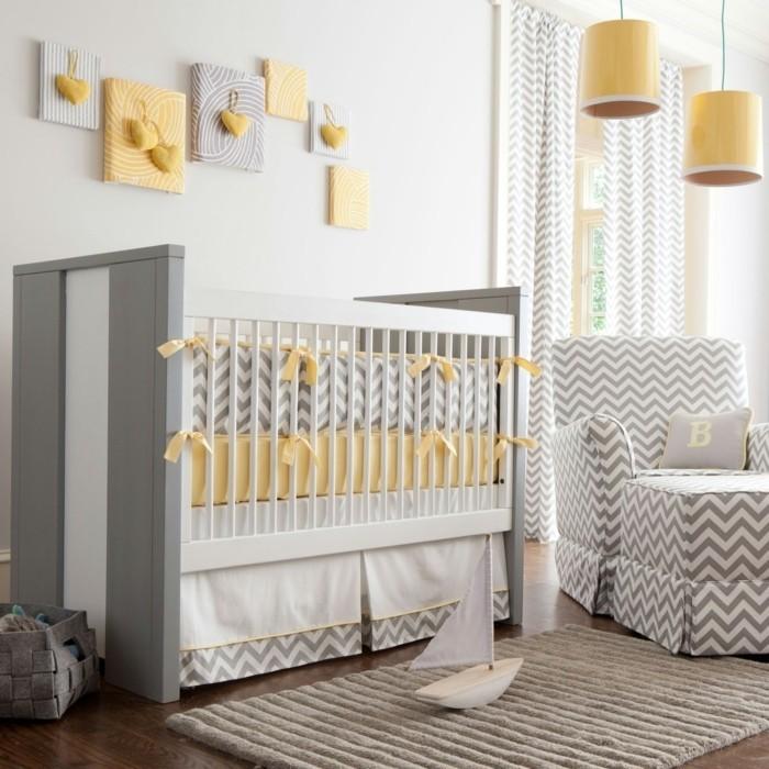 Table De Salon Moderne Blanc Et Noir : Chambre Bébé Gris Clair Chambre de bébé 15 idées pour un garçon