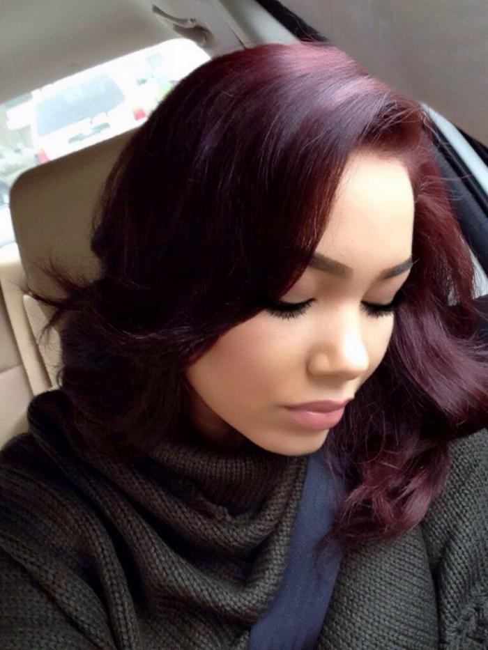 teinture acajou couleur cheveux bourgogne - Coloration Cheveux Acajou
