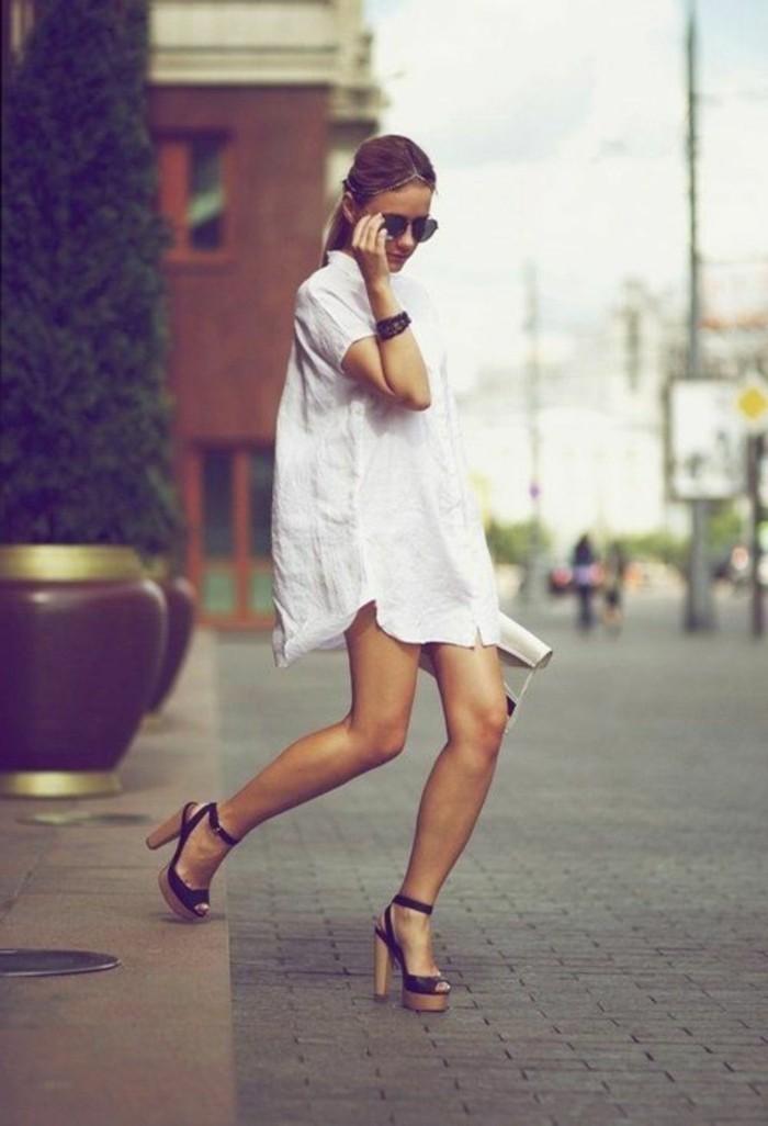 tenue-de-jour-chemise-jean-femme--chemises-hommes-chemise-longue-femme