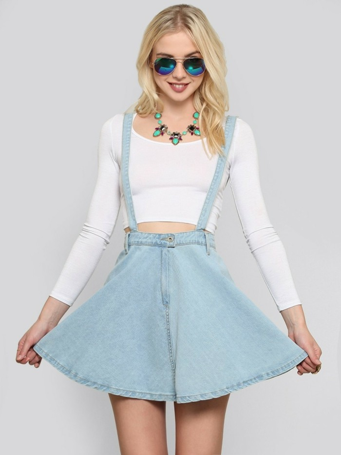tenue-de-jour-en-tendance-jupe-femme-jupe-short-hiver-printemps-belle-bleu-denim