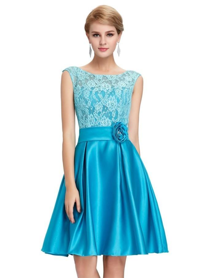 tenue-de-mariage-robe-mariee-robes-cocktail-une-idée-classique-bleu