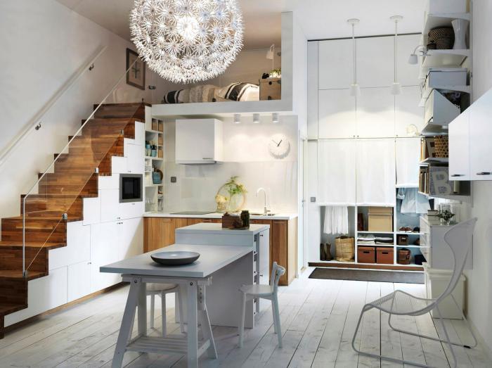 une-cuisine-avec-un-ilot-table