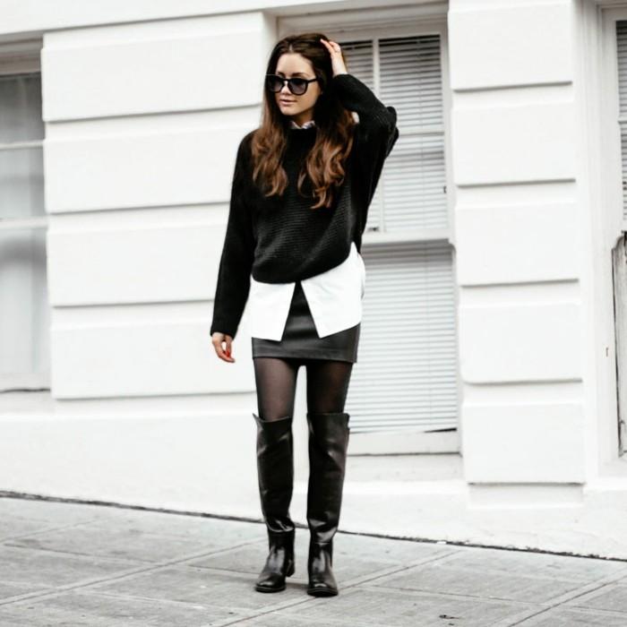 une-idée-chic-chemise-homme-manche-courte-chemise-noire-porter-ootd-on-aime