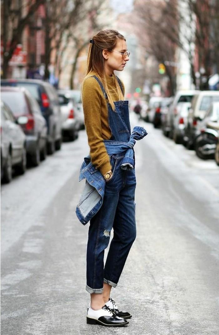 veste-blazer-femme-denim-chaussures-blanc-noire-femme-moderne