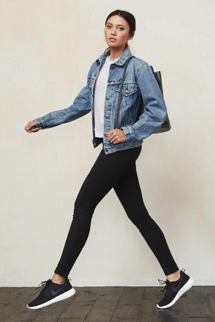 veste-blazer-femme-denim-slim-noir-veste-femme-denim-sac-a-main-cuir-noir