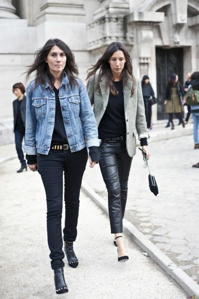 veste-en-denim-chic-pantalon-en-cuir-noir-cheveux-mi-courts-femme-moderne