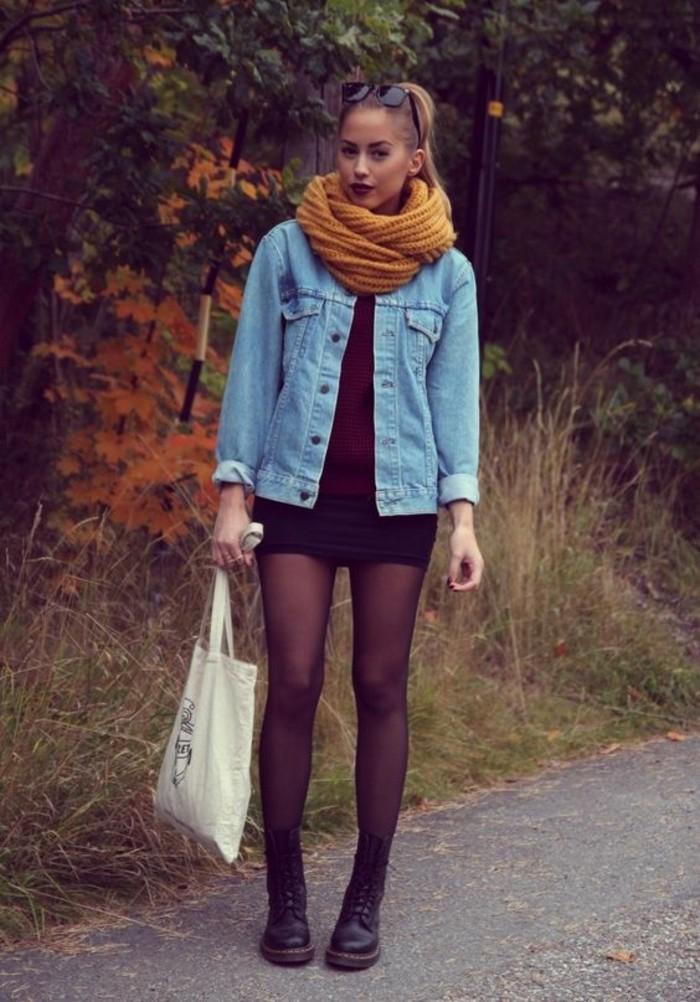 veste-en-jean-boyfriend-femme-chaussures-noires-femme-veste-courte
