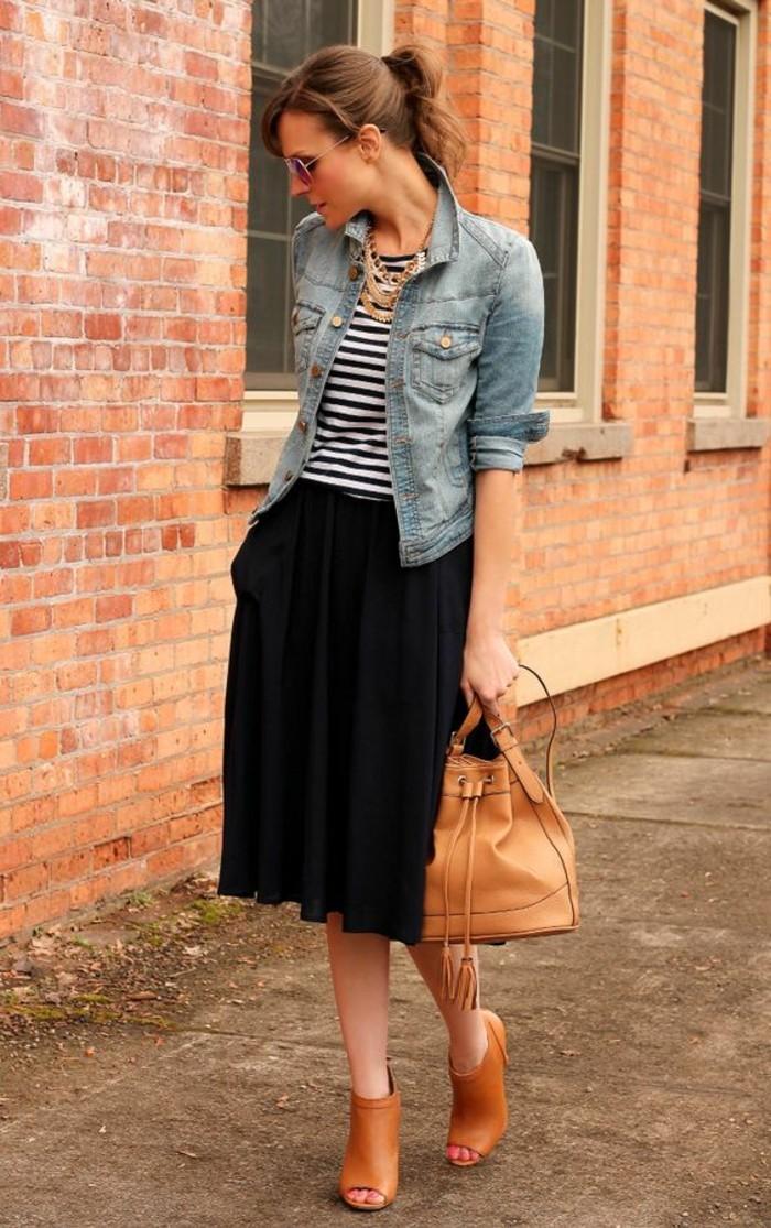zara-femme-veste-avec-jupe-longue-noire-tendances-de-la-mode-femme