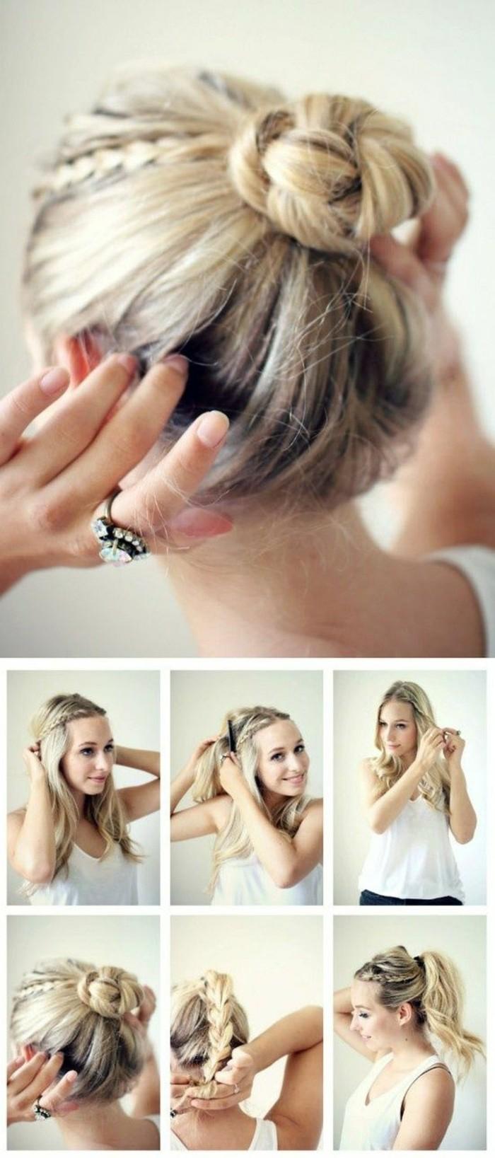 Top Une coiffure simple et rapide - 56 variantes en photos et vidéos! JA53