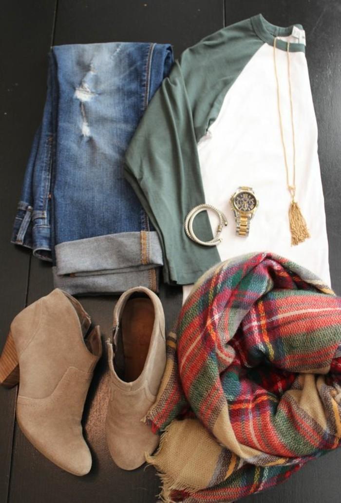 0-echarpe-femme-coloré-bottines-femme-velours-marron-denim-déchiré