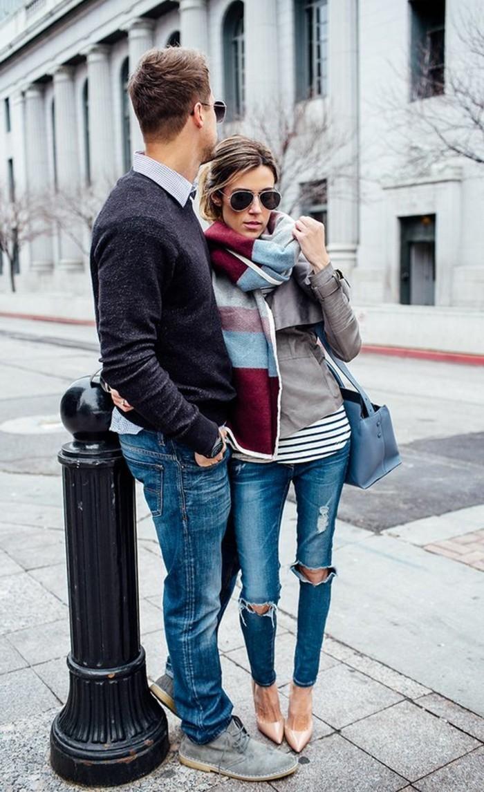 Comment porter une charpe les nouvelles tendances de - Nouer une echarpe ...