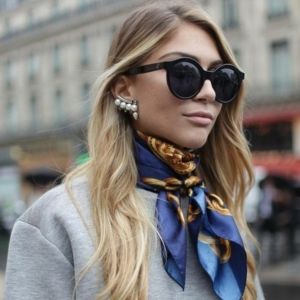 Comment porter une écharpe, les nouvelles tendances de printemps-été 2016!