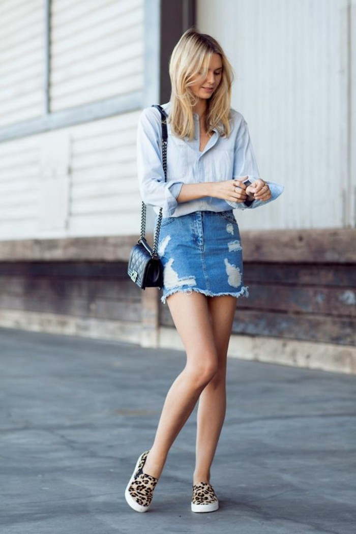 Mini jupe jean - Achat / Vente Mini jupe jean pas cher