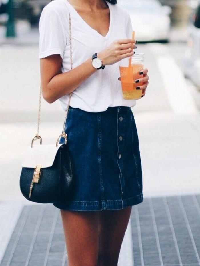 0-jupe-en-denim-femme-t-shirt-blanc-mode-tendances-pour-2016-femme