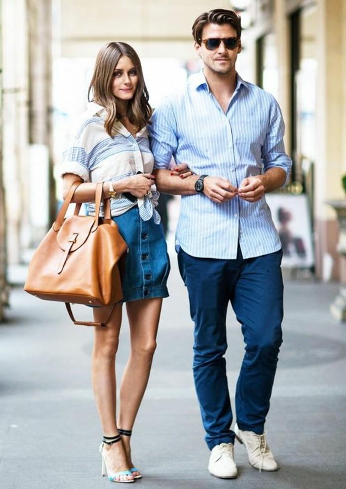 7b98849cb86 Comment porter la jupe en jean  80 idées en photos! - Archzine.fr