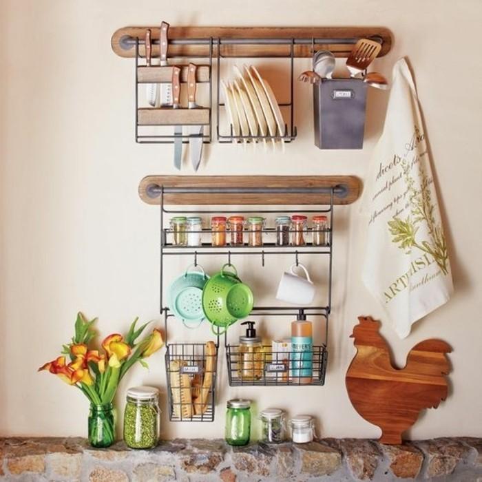 Le rangement mural comment organiser bien la cuisine - Ikea rangement etagere ...