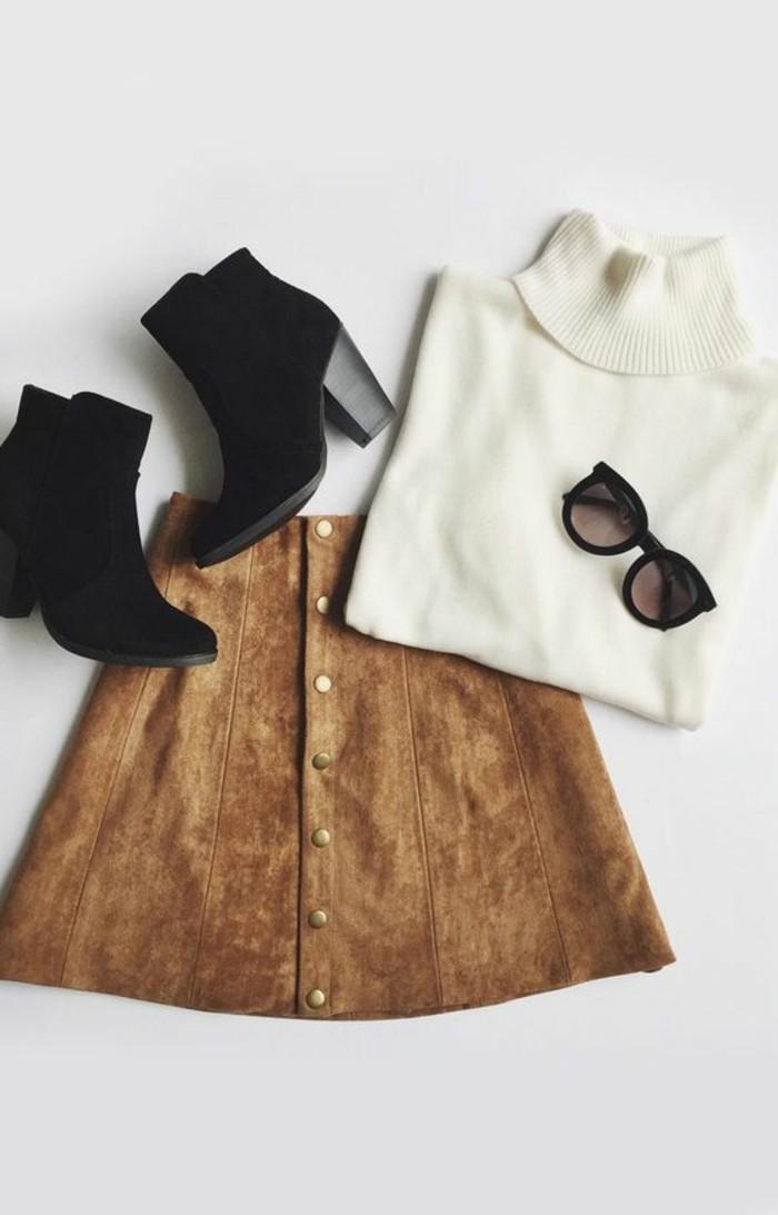 00-jupe-en-dame-de-couleur-marron-clair-talons-noirs-tendances-de-la-mode