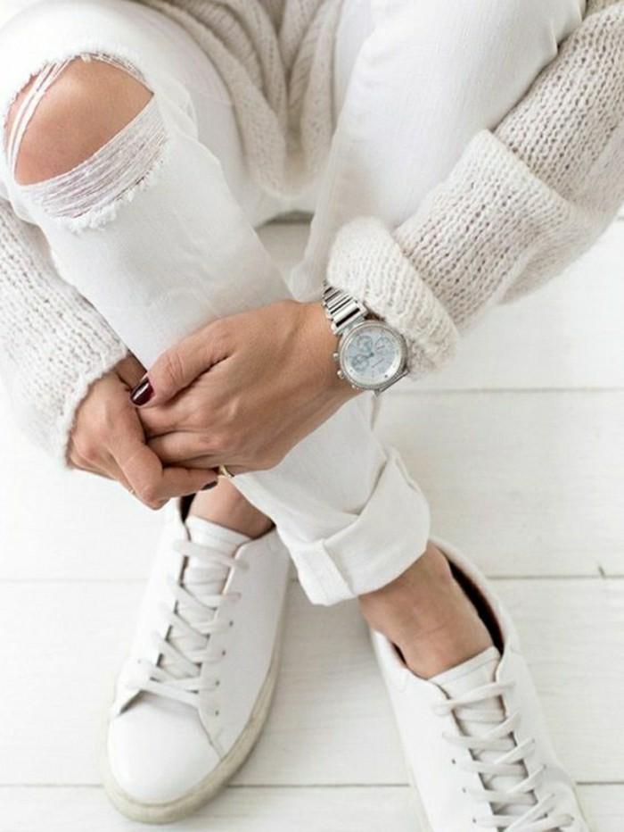 Les sneakers femme comment les porter avec style 85 photos for Baskets blanches femme