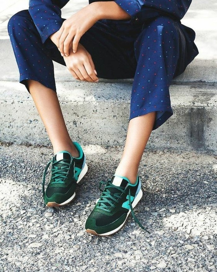 1-basket-femme-couleur-vert-foncé-nike-sneakers-femme-modernes