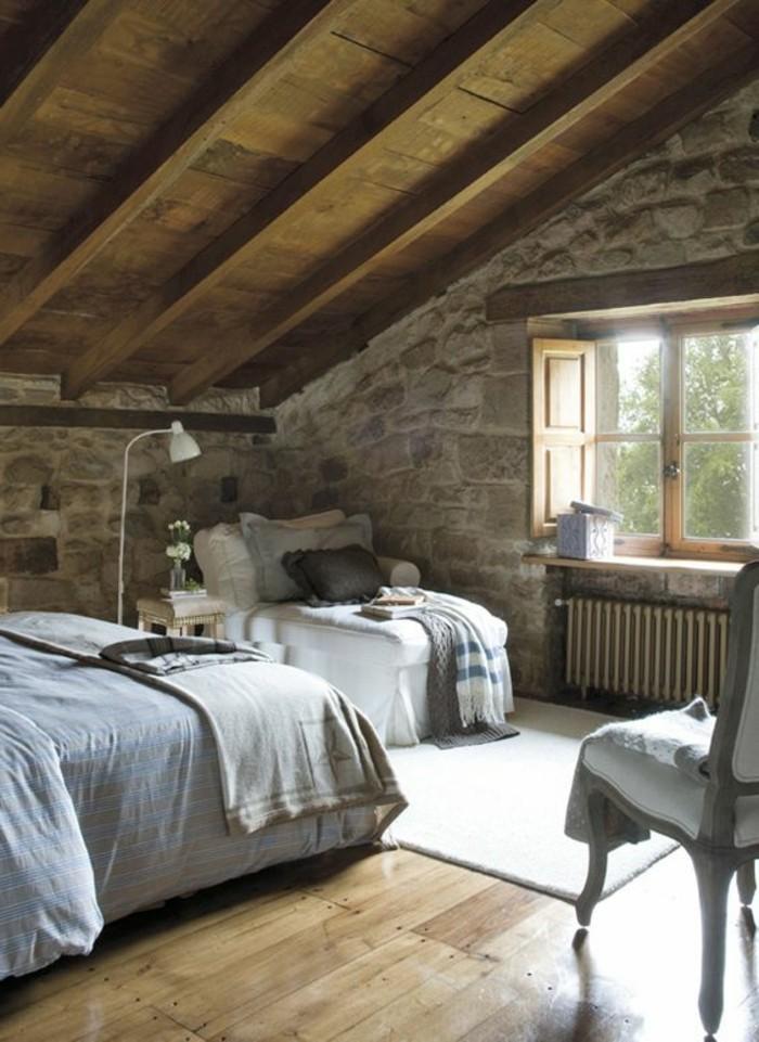 Tout pour votre chambre mansard e en photos et vid os - Amenager une chambre avec lits ...