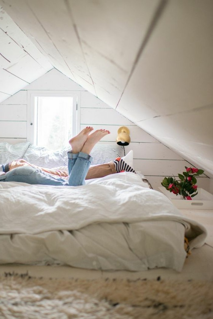 Chambre Cocooning Dans Les Combles : Tout pour votre chambre mansardée en photos et vidéos