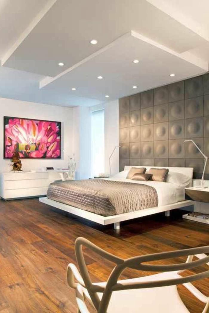 1-comment-decorer-la-chambre-a-coucher-sol-en-parquet-clair-lit-double