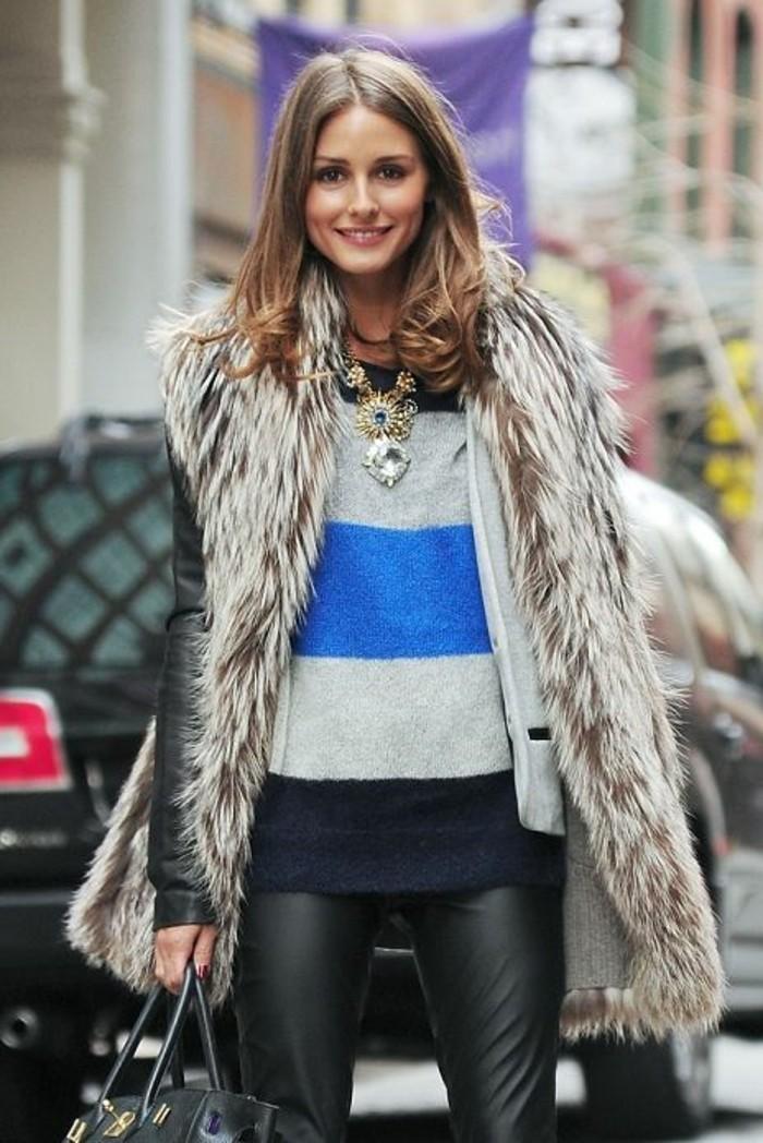 1-olivia-palermo-pantalon-en-cuir-noir-gilet-long-sans-manche-femme-accessoires-beauté
