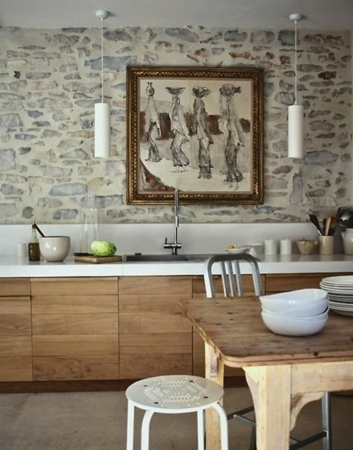 Quelles pierres de parement choisir pour votre pi ce for Revetement pour meuble de cuisine