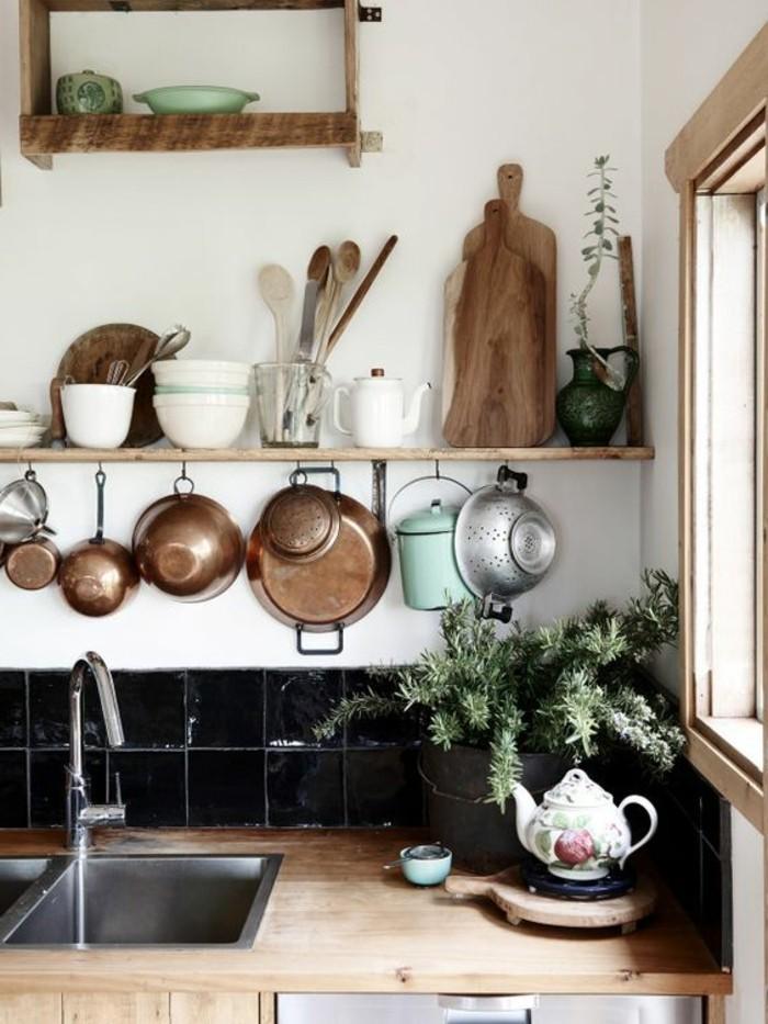 Le rangement mural comment organiser bien la cuisine - Meuble de rangement pour la cuisine ...