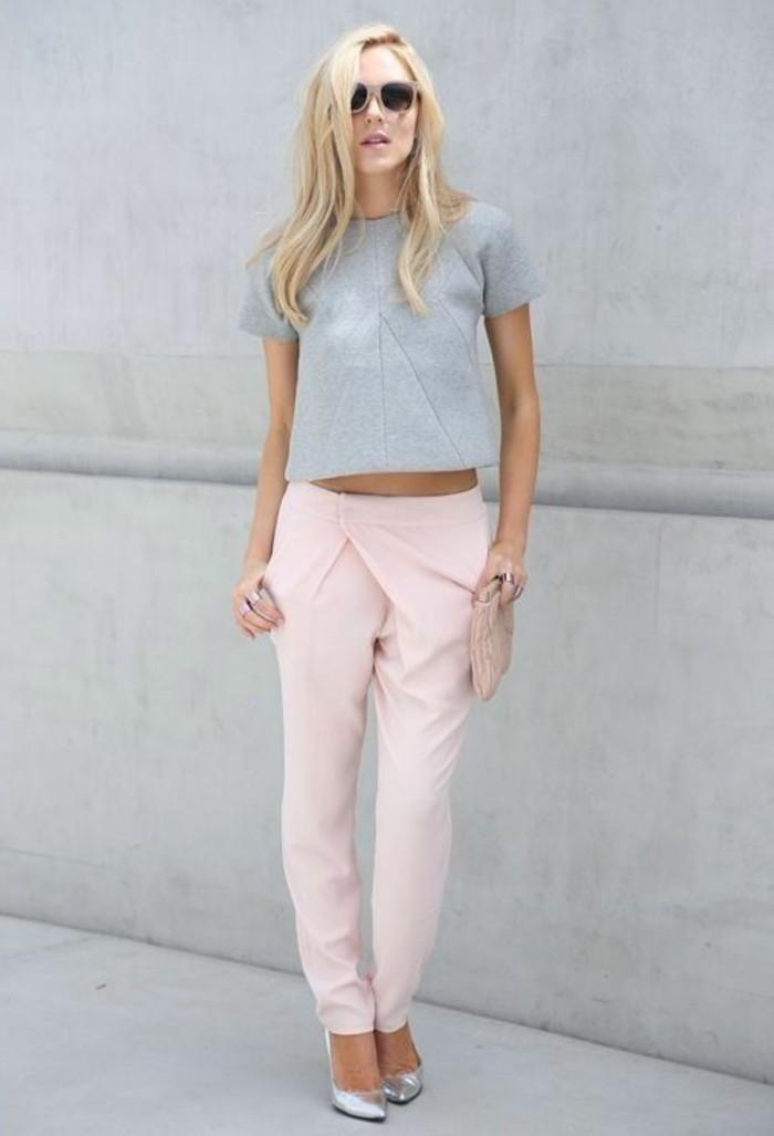 1-tendance-mode-automne-2016-femme-tendances-de-la-mode-pantalon-rose-pincé