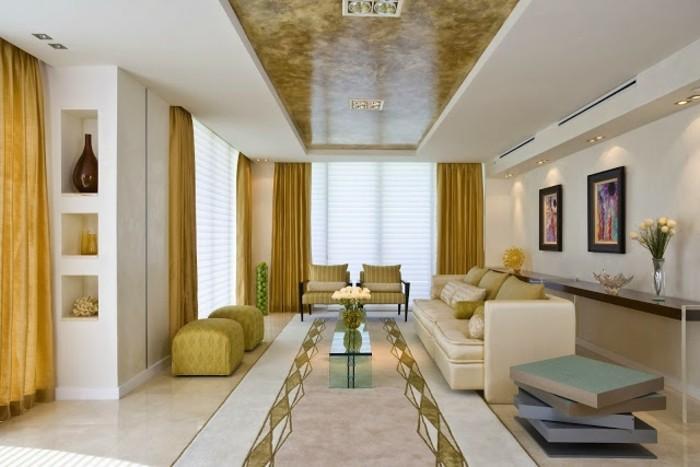 Decoration-plafond-blanc-et-jaune-comme-le-sol-symetrie-resized