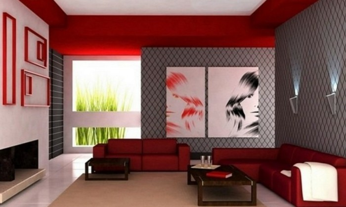 Decoration-plafond-rouge-artistique-resized