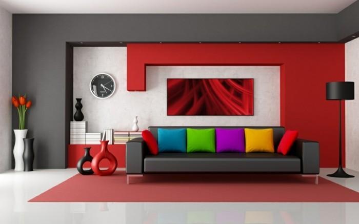 Decoration-plafond-style-futuristique-rouge-et-blanc-resized