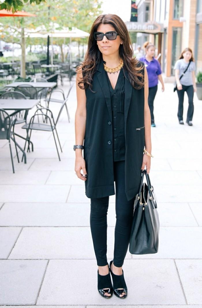 Le-manteau-sans-manche-gilets-sans-manches-cool-total-noir
