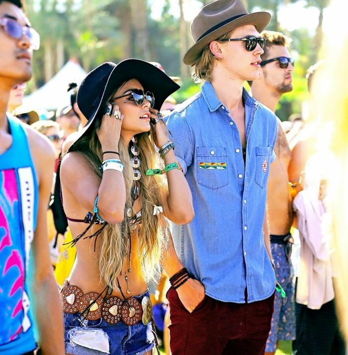 amour-célèbres-formidable-coachella-festival-tenue-modèle-couple-amoureuse